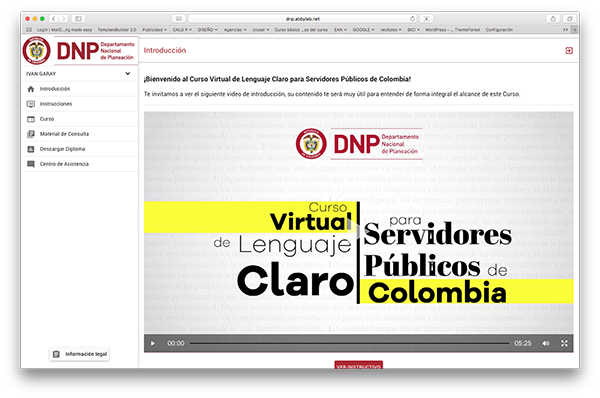 acceso e-learning cliente dnp introcrea