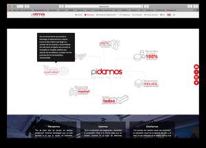 pidamos cliente diseño web inicio características introcrea